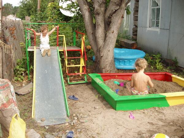 Обустройство детской площадки своими руками фото в детском саду