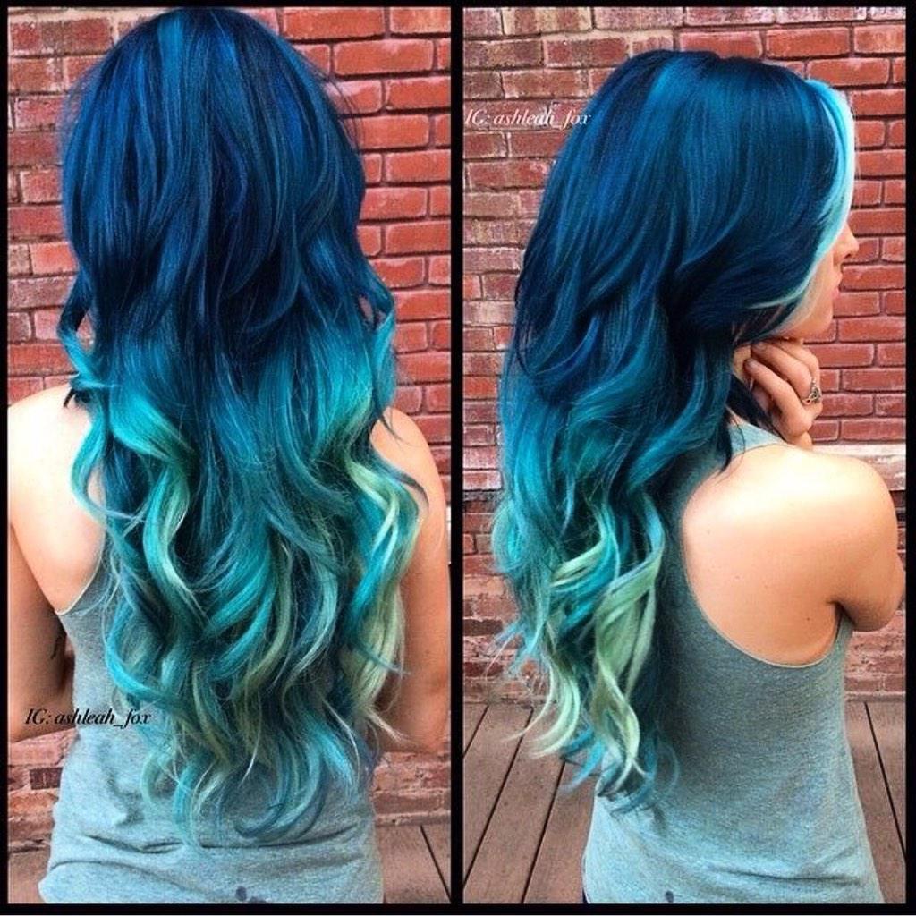Как закрасить синий оттенок волос