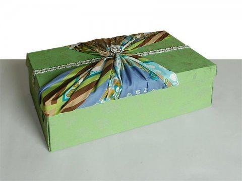 Как сделать красивые коробки из под обуви