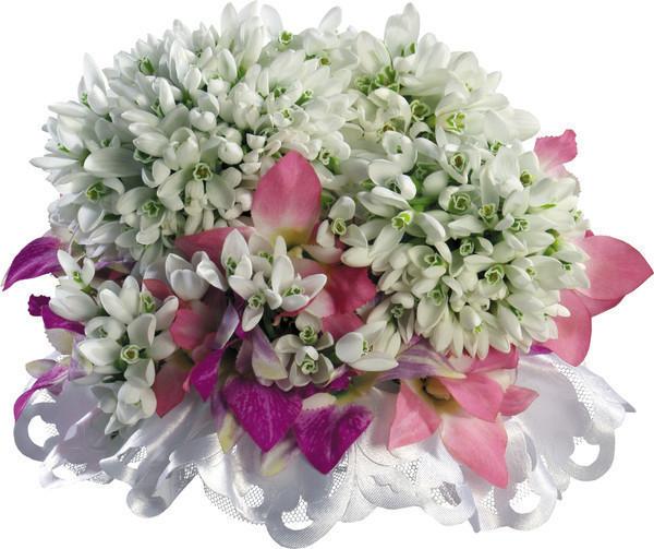 Букеты с весенними цветами