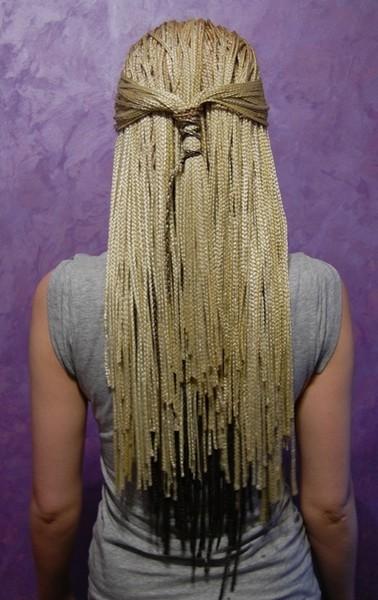 Плетение афрокосичек с канекалоном