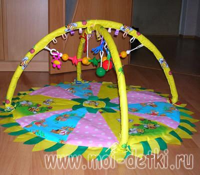 Развивающий коврик дуги своими руками