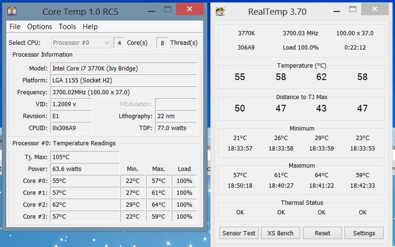 температура процессора 84