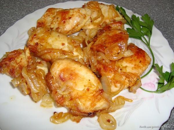 Курица в духовке кусочками с майонезом и чесноком рецепт пошагово