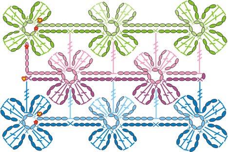 Цветочные орнаменты вязание