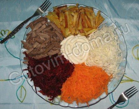 Салат светофор рецепт с пошагово с чипсами