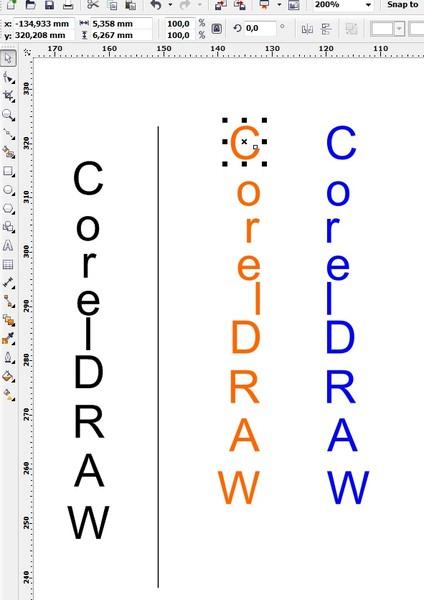 Как сделать текст вертикально в кореле