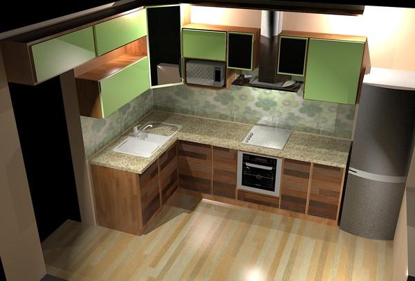 Дизайн кухни 2 на 2 кв.м