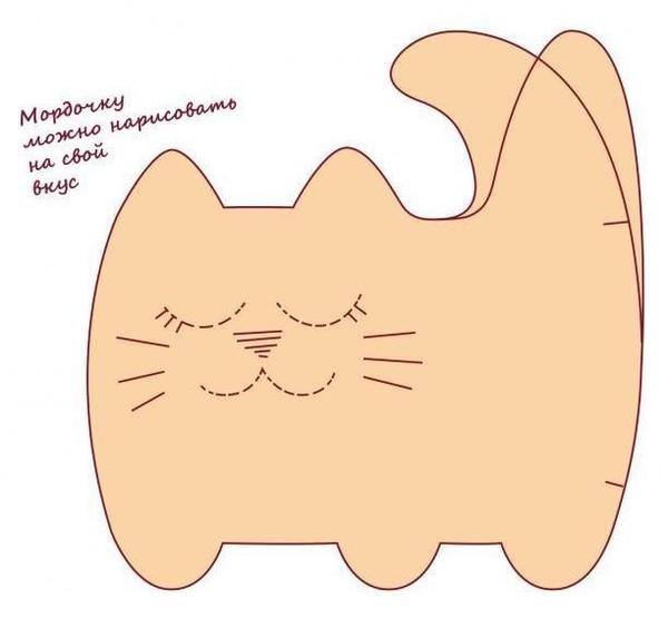 Кошки подушки своими руками выкройка