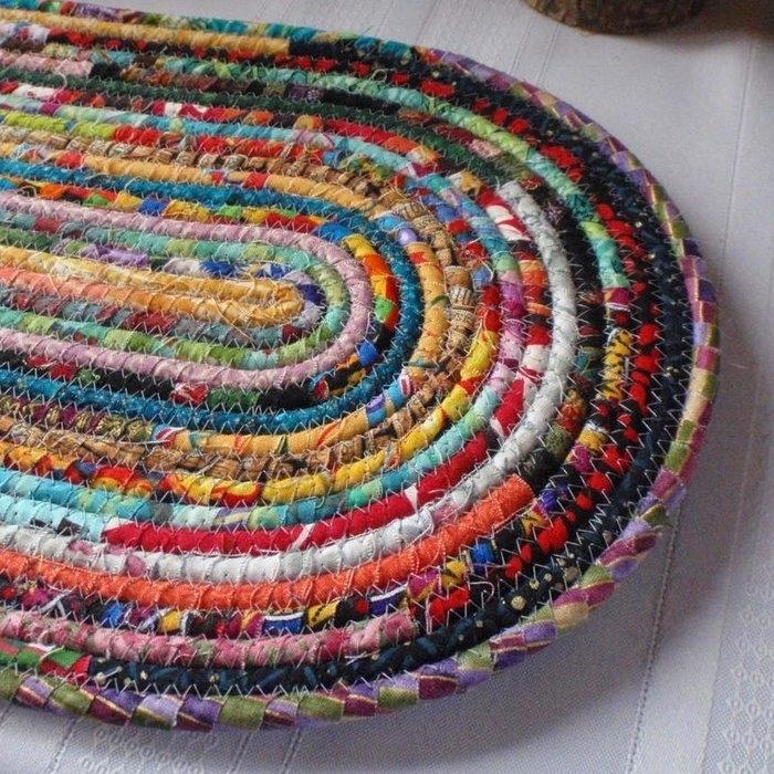Плетение их лоскутков