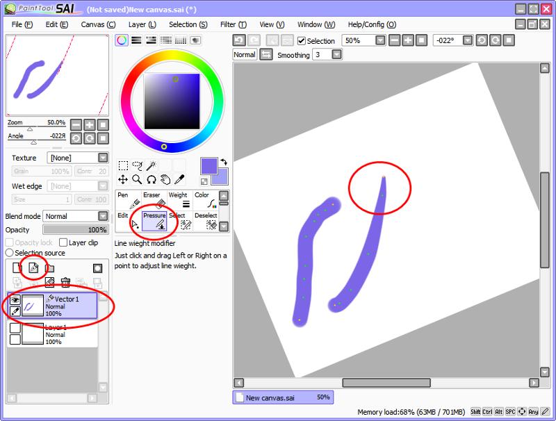 Как сделать острую кисть в paint tool sai на