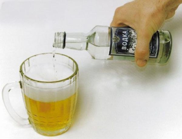 Водка с пивом как называется