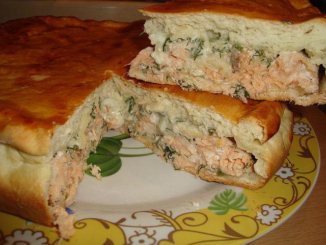 Рецепт пирога с рыбой из слоеного дрожжевого теста рецепт