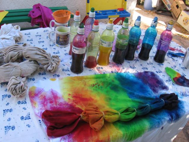Краски по ткани в домашних условиях