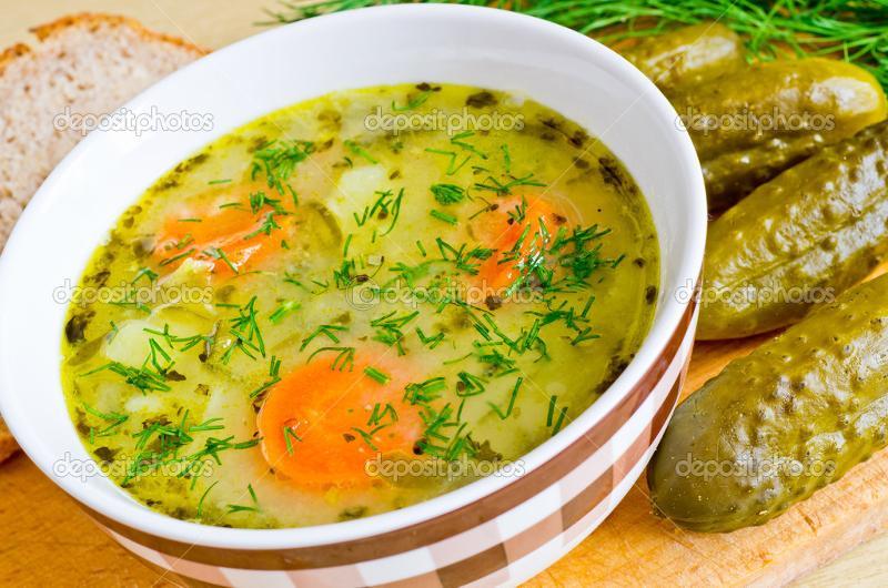 Рецепт рассольника с рисом и огурцами и томатом с пошагово в