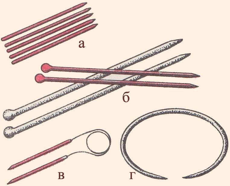 Спицы для вязания виды