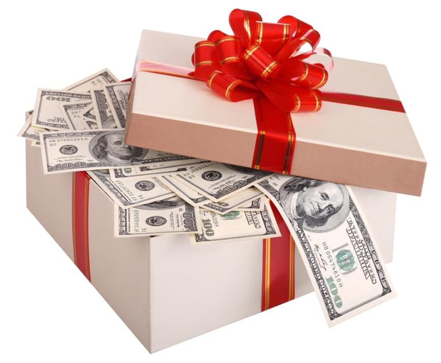Подарок деньгами другу