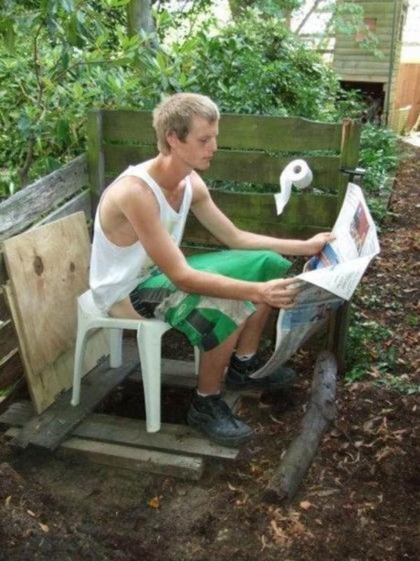 Дачный туалет как сделать
