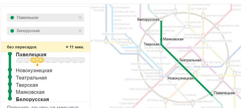 Схема проезда от казанского до белорусского вокзала