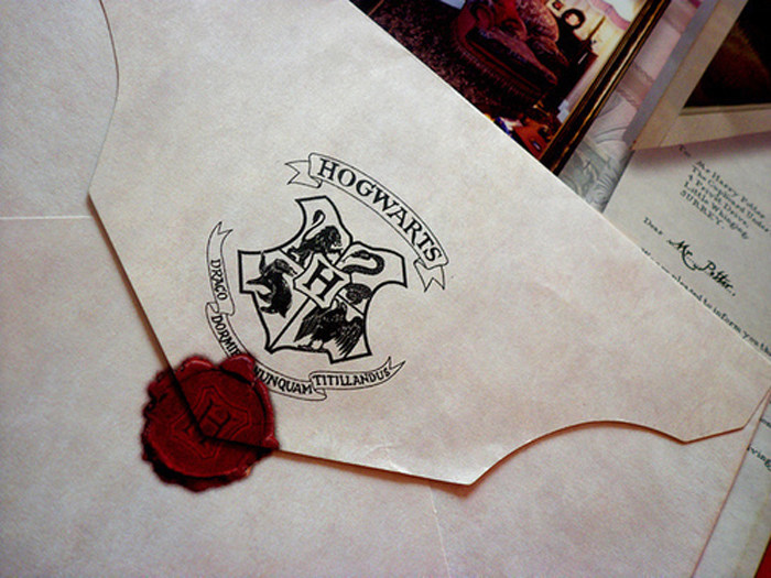 Как сделать печать на конверте из хогвартса