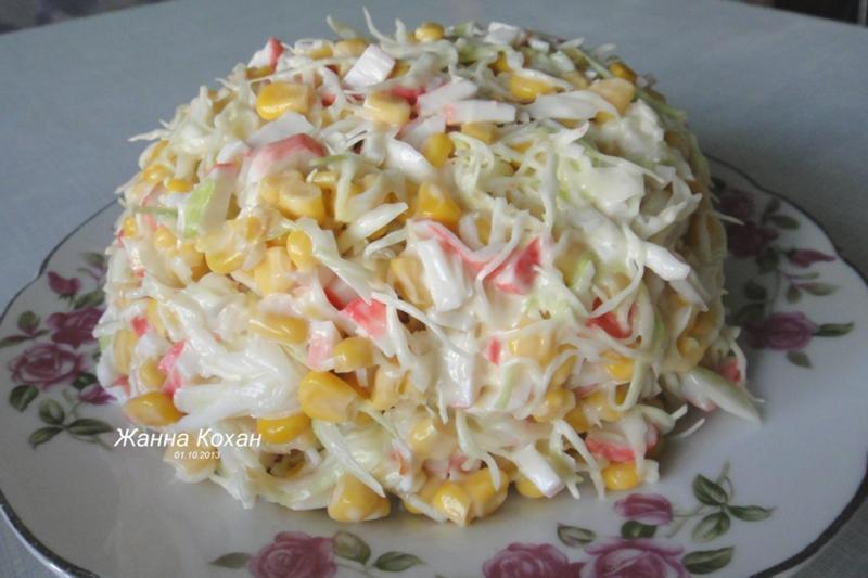 Что еще добавить в салат из крабовых палочек