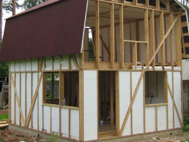 Дачный домик своими руками недорого