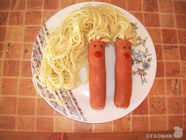 Как сварить сосиски со спагетти
