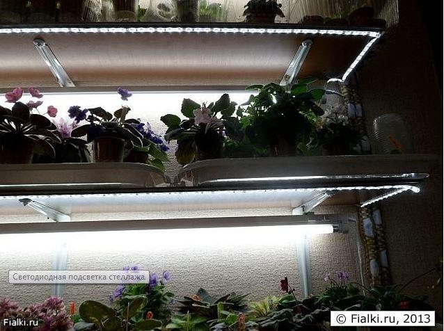 Светодиодная лента подсветка растений