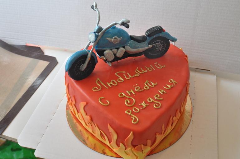 Торт для байкера из мастики своими руками