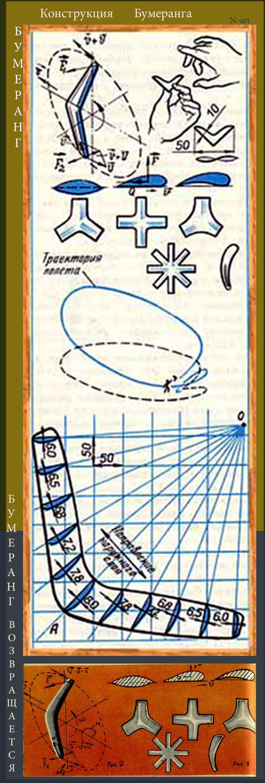 Как сделать летающий бумеранг из картона