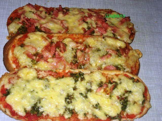 Пицца на батоне в духовке рецепт пошагово в