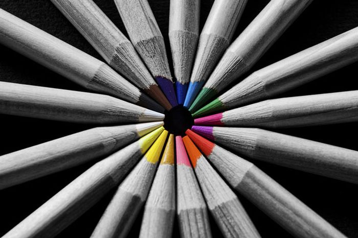 Как сделать черно белое а цветы цветные