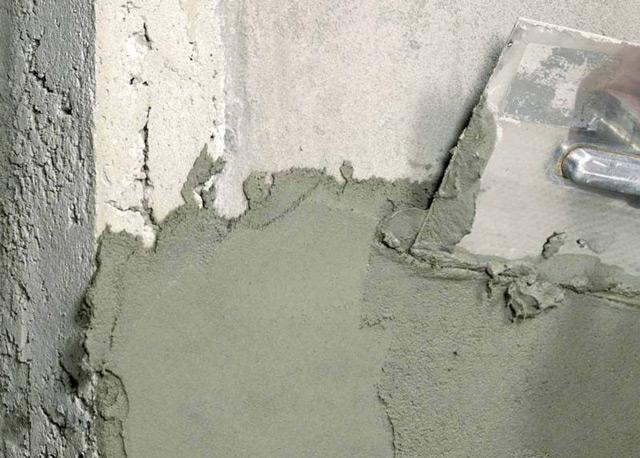 Штукатурка стен бетоном