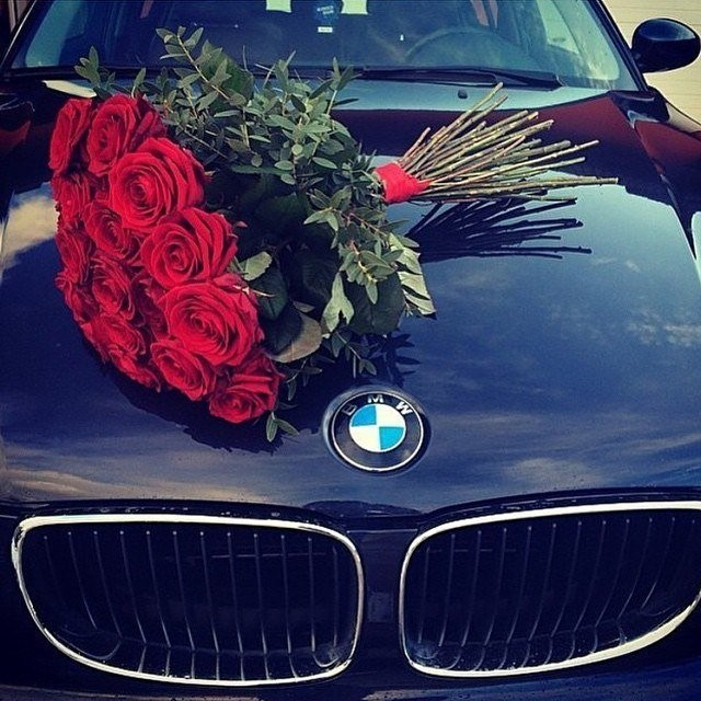 Фото бмв х5 и цветы