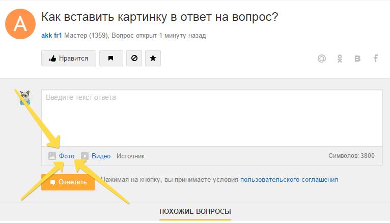 Как установить в спрашивай.ру