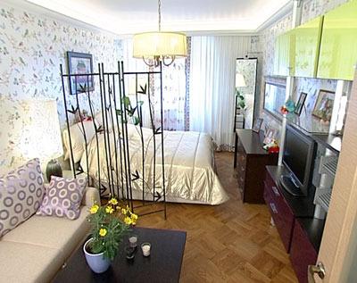 Дизайн совмещенной гостиной и спальни фото
