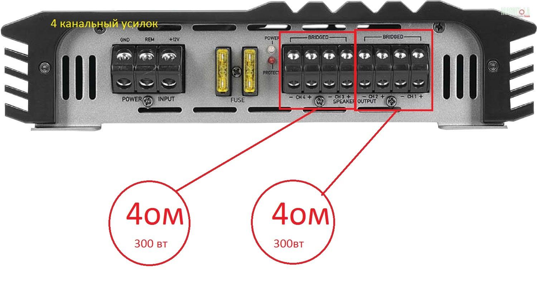 подключение саба в машине схема