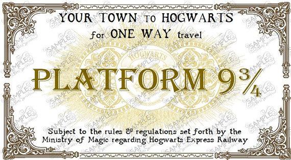 Билет на поезд в хогвартс своими руками 37