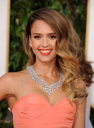 Jessica alba blonde highlights 2013