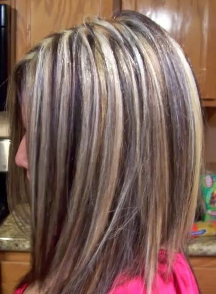мелировка волос для темных фото