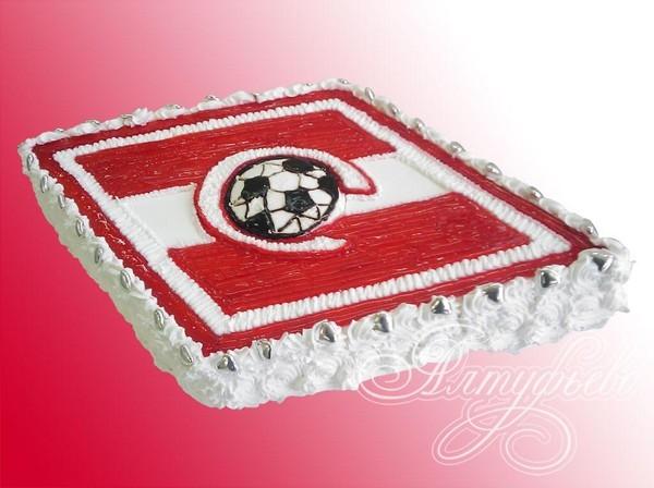 Как сделать спартаковский торт