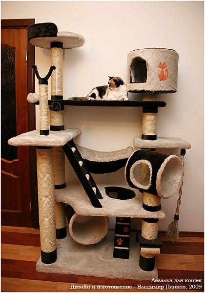 Конструкции домиков для кошек своими руками