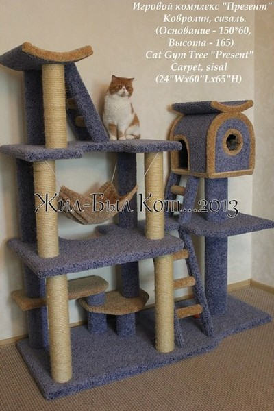 Чертеж игрового комплекса для кошек своими руками - Как сделать домик для кошки своими руками? Фото, видео