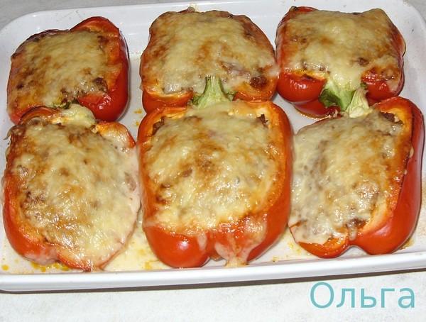 Фаршированные перцы фото в духовке с сыром