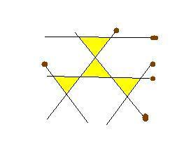 Как из 6 спичек сделать 6 равнобедренных треугольника