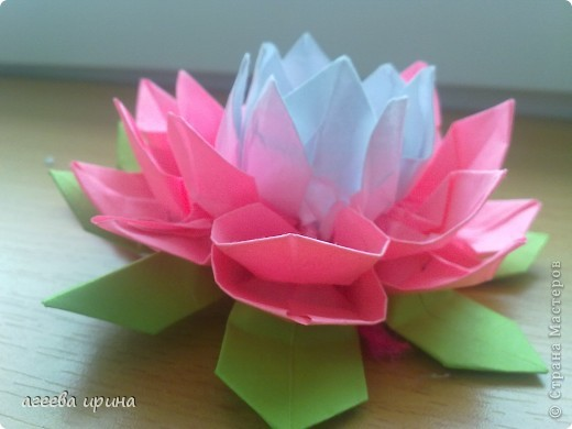 Цветок лотос из бумаги