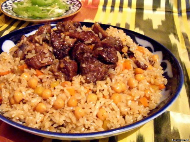 Плов узбекский с горохом рецепт