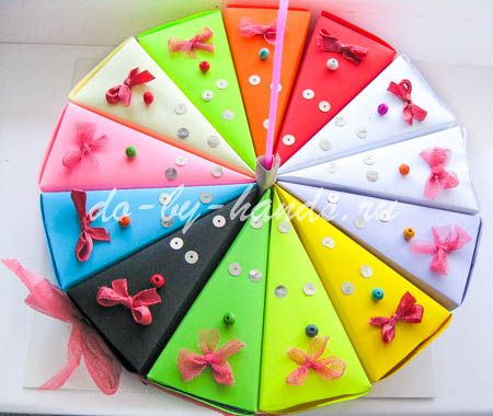 Бумажный тортик с пожеланиями своими руками пожелания