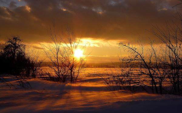 закат над снежной степью  № 831892 загрузить