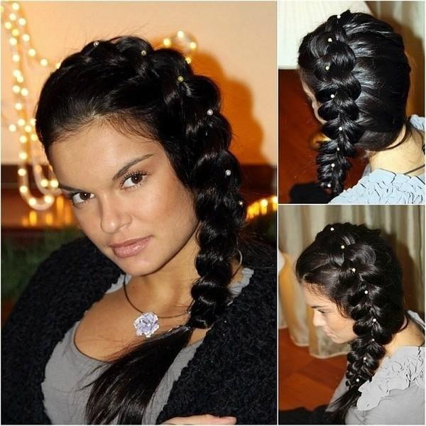 прически на средний волос фото косы